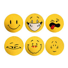 Emoji Embroidered Felt / Card Round Fun Party Coasters 4inch/10cm