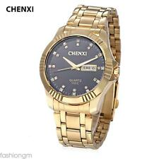 CHENXI 050C Male Quartz Watch Japan Movt   Artificial Diamond Dial Wristwatch
