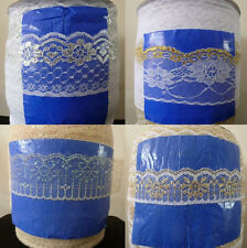 Wholesale 10-200yards embroidery lace ribbon colors can be selected