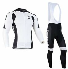Winter Thermal Fleece Long Sleeve team Cycling Jersey Cycling clothes White