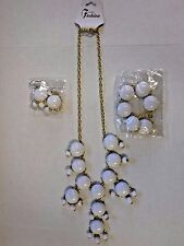"""Women's Fashion Jewelry Set - Matching Bracelet, 13""""  Necklace and Ear Rings"""