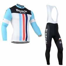 Winter !Thermal Fleece Long Sleeve Team Cycling Jersey Bib Pant Cycling clothes