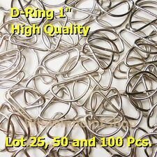"""Lot 25 50 100 Pcs. 1"""" D Rings Webbing Strapping One Inch  Dee Rings High Quality"""