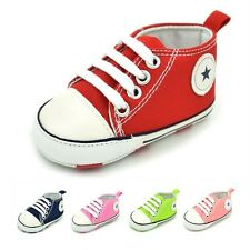 0-18Months Baby Shoes Boy Girl Canvas Toddler Sneakers Kid Soft Sole Crib Shoes