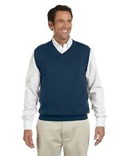 New Devon & Jones Mens V-Neck Vest Sweater In Big Sizes