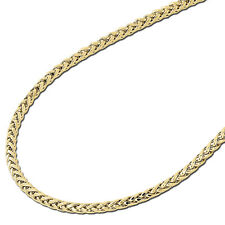 4MM Mens Womens 10K Yellow Gold Rounded Palm Chain Necklace 18-24 Inches
