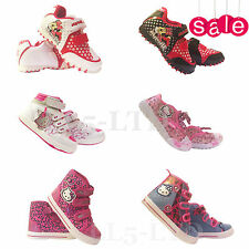 GIRLS CHILDREN MINNIE MOUSE HELLO KITTY TRAINERS CHARACTER SHOES PUMPS SIZE 4-2