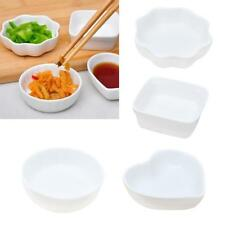 Snack Dish Porcelain White Ceramic Tray Dip Bowl Appetizer Condiment Kitchen