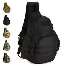 Men Chest Messenger Bag Hiking Travel Tactical BackPack Shoulder Sling Military