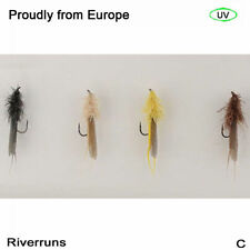Riverruns Realistic Flies Stonefly Dry Flies Trout Fly UV 4 Color With Fly Box