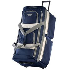 Rolling Duffel Bag 29-inch Wheeled Upright Carryon Luggage Sports Bag Navy Blue