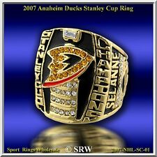 2007 Anaheim Ducks  NHL Hockey Stanley Cup Championship Ring Wood Box from USA