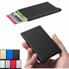 Unisex Aluminum Slim ID Credit Card RFID Protector Holder Purse Security Wallet