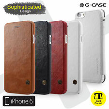 Genuine G-CASE Luxury PU Leather Flip Cover Case For Apple iPhone 7 7 Plus 6S