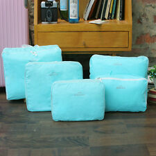 5pcs Portable Storage Bags Packing Cube Travel Luggage Waterproof Organizer Bag