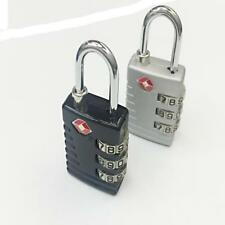 TSA 002 Secure Luggage Combination Lock 3 Digit Padlock Travel Security-BLK/SLV