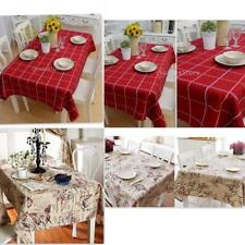 British Style Tablecloth Floral/Plaid Square/Rectangular Table Cover Home Party