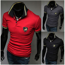 Casual Shirts Mens Stylish Casual Slim Fit Short Sleeve Polo Shirt T-shirts
