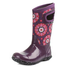 Kids Girls Bogs Kaleidoscope Purple Multi Wellies Wellington Boots UK Size