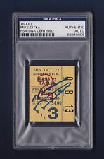 Mike Ditka signed Chicago Bears 1963 football ticket stub Psa Authenticated