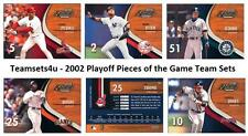 2002 Playoff Pieces of the Game (1-50) Baseball Sets ** Pick Your Team Set **