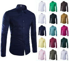 Top Fashion Men Luxury Stylish Dress Slim Fit Casual Shirts Long Sleeve Shirts G