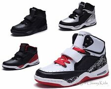 New Boys Girls High Top Sneakers Tennis Shoes Basketball Youth Athletic Casual