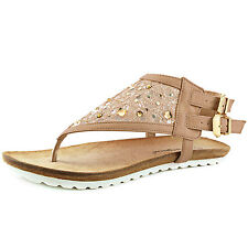 Women's Slingback Adjustable Strap Thong Rhinestone Gladiator Flat Sandal Shoe