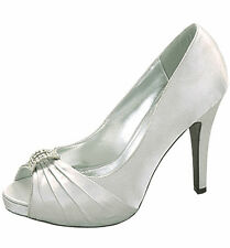 Women's Classic Fun Satin Open Toe Satin High Heel With Pleated Detail Front