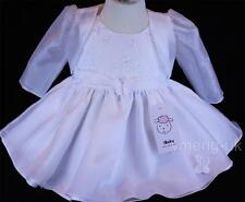 Stunning Baby Girl White Butterfly Party Dress with Matching Cardigan/ Wedding