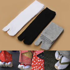 1 Pair Japanese Kimono Geta Clog Flip Flop Cotton Tabi Socks Split Toe US Ship