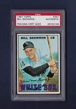 Bill Skowron signed Chicago White Sox 1967 Topps baseball card Psa authenticated