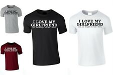 I LOVE MY GIRLFRIEND MENS T SHIRT FUNNY VALENTINES DAY BOYFRIEND GIFT(GF,TSHIRT)