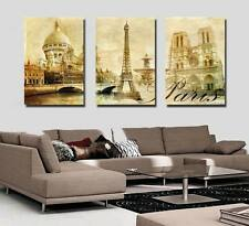 Art Oil Painting Modern Home Deco Eiffel Tower Picture Print on Canvas No Frame