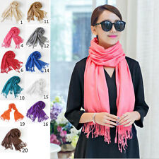 Womens Girl Long Soft Cotton Scarf Cashmere Wrap Shawl Pashmina Scarves US Ship