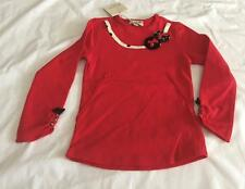 ELIANE ET LENA Girls 2 & 3yrs RED PEPETTE TEE SHIRT/TOP - NWT