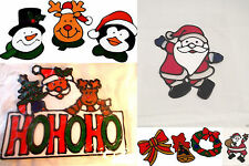CHRISTMAS GEL CLINGS WINDOW XMAS STICKERS HOME SHOP DECORATION SANTA SNOWMAN