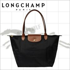 Longchamp Womens Le Pliage 1899 Black Tote Shopping Hand Bag