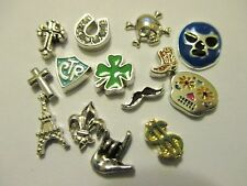 Floating Charms For Your Origami Owl Story Locket You Choose Fleur De Lis Skull
