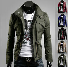 Mens Fashion Jacket Coat Slim Clothes Winter Warm Overcoat Casual Outerwear tops