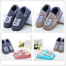 Men's House Indoor Cartoon Slippers Plush Warm Cotton Velvet Shoes Anti skid