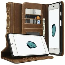 Vintage Book classic Retro leather Wallet Case Cover For Apple iPhone 6s 7 plus