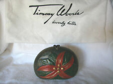 Vintage TIMMY WOODS Beverly Hills Collection Poinsettia  Purse RARE Find!!