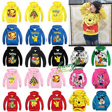 Kids Boys Girls Mickey Minnie Pikachu Cartoon Hoodies T-Shirts Sweatshirts Coats