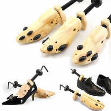 Mens Ladies Wooden Adjustable 2-Way Professional Boot Shoe Stretcher Shaper Tree