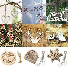 25/10/6pcs Mix Styles Christmas Snowflake Wooden Hanging XMAS Decoration