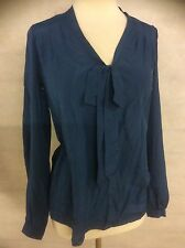 Ex HIGH STREET LADIES TEAL GREEN PUSSYBOW SHIRT BLOUSE IN SIZE'S 8 14 18