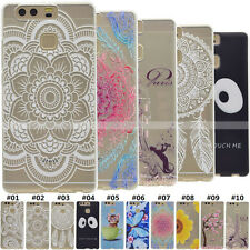 Clear Soft Shockproof TPU Gel Rubber Silicone Back Case Cover For Huawei Phones
