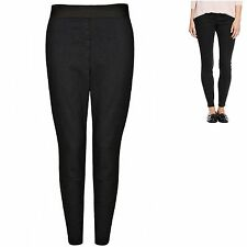 M&S 8 10 16 22 Pull On Jeggings Black Added Stretch Elastic Waist Flat Front New