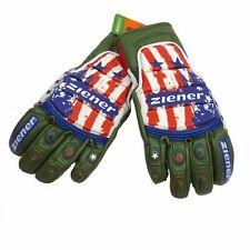 ZIENER Race glove Racing gloves Gloves Leather Grib USA olive new
